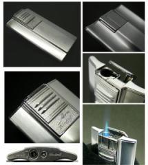 送料205円〜バーナーライター 超薄型9mm斬新アーチ形状ARCガスライター(クロームサテン)ターボライターを発明したWindmill社製 再注入式