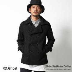 【RD.Ghost】メルトンウールダブルPコート/メンズ/ピーコート/ネイビー◆4920【pre_d】