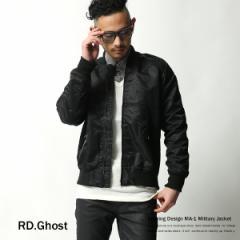 【RD.Ghost】ナイロンミリタリーMA-1ジャケット/...