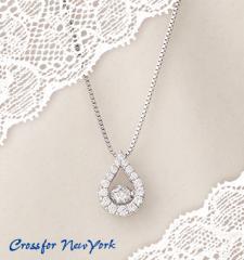 クロスフォーニューヨーク 「Twinkle Tear」 NYP-529 揺れるダイヤ シルバー 可愛い ネックレス 送料無料