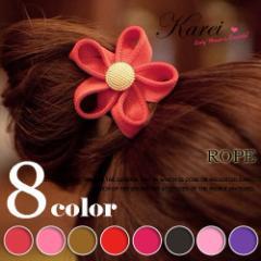 7色 花をモチーフしたSWEETヘアゴム ヘアアクセサリー キラキラ ho-75
