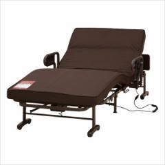 収納式 電動リクライニングベッド(Wファンクション) 2モーター AX-BE635N■介護ベッド 折り畳みベッド 自動リクライニングベッド