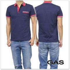 【セール 40%OFF!】GAS JEANS ガスジーンズ メンズポロシャツ JANIS/S GAS.J / 310110 181409 ネイビー