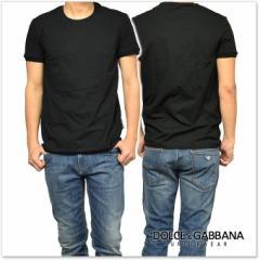 【セール 35%OFF!】DOLCE&GABBANA UNDERWEAR ドルチェ&ガッバーナ アンダーウェア クルーネックTシャツ N60149 O0024 ブラック