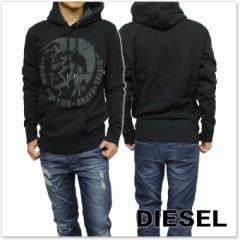 DIESEL ディーゼル プルオーバーパーカー S-AGNES-PATCH / 00SN70 0IAEG ブラック /定番人気商品
