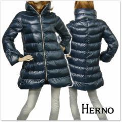 【旧作処分セール 60%OFF!】HERNO ヘルノ レディースダウンコート PI0356D 12017 ネイビー