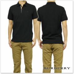 BURBERRY バーバリー メンズ半袖ポロシャツ 4010695 ブラック /2017春夏新作