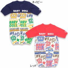 【受賞記念20%OFF】NEW♪新生児用2wayカバーオール/ドレスオール(切替総柄)-ベビーサイズベビードール 子供服-6449B
