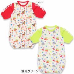 NEW♪ディズニー 新生児用2wayカバーオール/ドレスオール(総柄)-新生児用ベビーサイズ ベビードール 子供服 /DISNEY-7707B