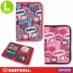 NEW 母子手帳や通帳入れに POP総柄 マルチポーチ Lサイズ レディース ベビードール BABYDOLL-6298