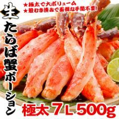 ギフト 極太 生たらば蟹 500g  元祖 7L ポーション かに 送料無料/カニ/蟹/タラバ/たらば/魚介類・シーフード/しゃぶしゃぶ/鍋