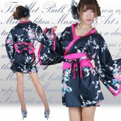 CPD1210-910/キャバドレス/サテン花魁ミニ着物ドレス