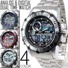 メンズ アナログ & デジタル 腕時計 送料無料 保証 BOX付き 多機能 ビッグフェイス クロノグラフ FSMB1-B WS  1115 1201
