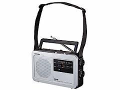 TOSHIBA AM/FMラジオ 肩掛けベルト付き  TY-HR2(S)