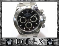 ★ロレックス コスモグラフ デイトナ メンズ腕時計 ブラック文字盤★