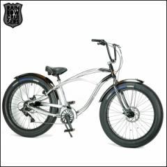 """ファットバイク RAINBOW レインボー """"GREASE 3.5"""" グリース ポリッシュ×ブラック ビーチクルーザー 自転車"""