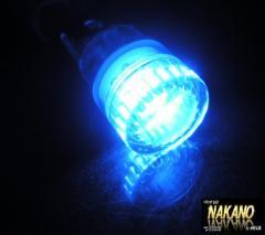 【LEDウエッジ球 W2.1×9.5dバルブ】高輝度LED1球使用2ヶ入JET(ブルー)24V★ポジション球などに