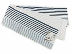 半幅帯 半巾 細帯 浴衣帯 四寸帯■リバーシブル四寸帯■白地 黒の縞 柄 no230