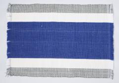 フィリピン Ilocos 地方伝統 手織り ランチョンマット 2枚組 ブルー