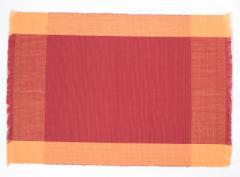 フィリピン Rowildas 手織り ランチョンマット 2枚組 レッド オレンジ