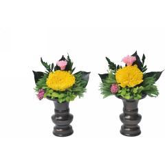 プリザーブドフラワー製「御仏壇向け飾り花」一対/キャラクター/母の日/プレゼント/フラワー/送料無料