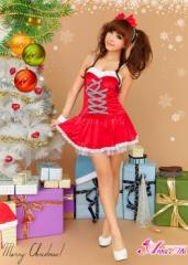[即納]サンタ コスプレ サンタコス コスチューム 衣装 セクシー sexy 定番 ワンピース クリスマス ドレス サンタクロース 個性派 赤 大人