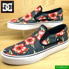 ディーシーシューズ DC Shoes TRASE SLIP-ON SP 300185 BKN 黒/花 トレイス スリップオン メンズ