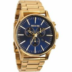 NIXON ニクソン 腕時計 メンズ THE SENTRY CHRONO GOLD/BLUE SUNRAY A386-1922 A3861922