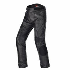DUHAN   オートバイ PU革  レザーパンツ ツーリングパンツ 防風防寒 CEプロテクター標準装備 M〜XXLサイズ選び可