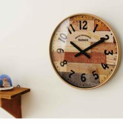 電波時計 おしゃれな掛け時計  壁掛け時計 ブッシュウィック CL-9361 INTERFORM インターフォルム / 木目 ナチュラル