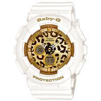 ◆CASIO[カシオ] BABY-G【Leopard Series[レオパードシリーズ]】ホワイト/ゴールド BA-120LP-7A2JF