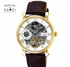 ゾンネ × ハオリ SONNE HAORI PRODUCED H013YG  メンズ 腕時計  自動巻き リストウォッチ 岩城滉一