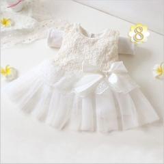 女の子 ワンピース ホワイト 出産お祝い ドレス  発表会 結婚式 子供 パーティー  ノースリーブ ワンピース