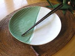 タバナンリーフ 型丸皿 2色/アジアン雑貨/バリ雑貨