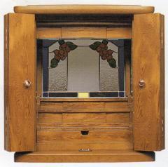 家具調仏壇(モダン仏壇) りんご 1本立 屋久杉 ウレタン仕上