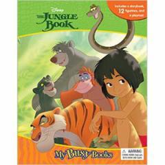 (英語版)海外書籍 「Jungle Book:My Busy Books(ジャングルブック マイ ビジーブック)」 (本+ミニフィギュア12種)
