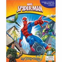 (英語版)海外書籍 「Marvel Spider-Man:My Busy Books(マーベル スパイダーマン マイ ビジーブック)」 (本+ミニフィギュア12種)