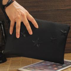 クラッチバッグ メンズ レディース カバン 鞄 バッグ ハンドバッグ  カバン 星 スター 型押し A5サイズ H9901