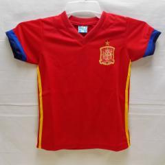 子供用 K014 スペイン 赤 17 ゲームシャツ パンツ付/選手選択/トーレス/サッカー/キッズ/上下セット