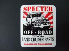 アメリカ スペクター・オフロードのオリジナル ランドクルーザー40ステッカー