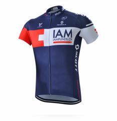 IAMサイクルジャージ上下セット/男性用自転車サイクルウェア半袖/春夏用サイクルジャージ普通タイプ ビブタイプ