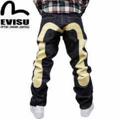 EVISU(エヴィス エビス ) X WAREHOUSE(ウエアハウス) NO2素材 やや細め #2000 ジーンズ 大黒ホワイト
