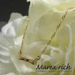 K10ゴールド ダイヤモンド ネックレス ペンダント 小森純さんプロデュースジュエリー!Marea rich マレアリッチ プレゼント推奨品