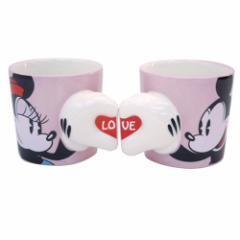 ◆ミッキー&ミニー《LOVE》ペアマグカップ(陶器...