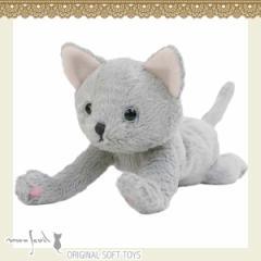 104158/モンスイユ/[オリジナルぬいぐるみ]クループ(グレー)/ねこ/猫/ネコ/動物/玩具/TOY/おもちゃ/ギフト/プレゼント