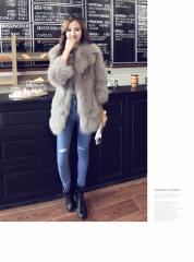 高品質 ファーコート レディース 毛皮コート フォックス ロッグコート フェイクファー 高級 おしゃれ 上着 暖かい 秋冬 防寒