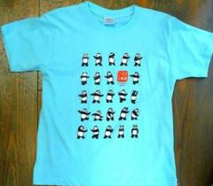 二十四式太極拳パンダTシャツ・大人用(水色) 【北京製→上海製】