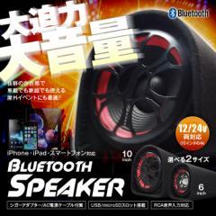 スピーカー Bluetooth AC DC 大音量 60W 100W スマホ microSD MP3 12V 24V 車載 家庭 屋外 イベント