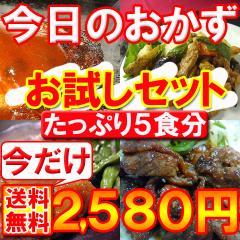 【送料無料】無添加!「今日のおかず」お試しセット/お惣菜(mei)