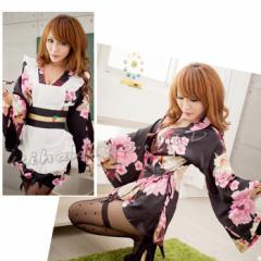 あす楽 着物ドレス ハロウィン コスプレ 衣装  コスチューム 仮装 浴衣 着物 和服 変装 メイド